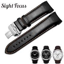 Original Calfskin Leather Men Watchband 1853 for Tissot Watch Strap T035410A 407 - $19.98+