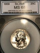 *AMAZING* 1959 STUNNER CH/GEM BU+++ Washington Quarter 25C - CROSSOVER C... - $2,398.74