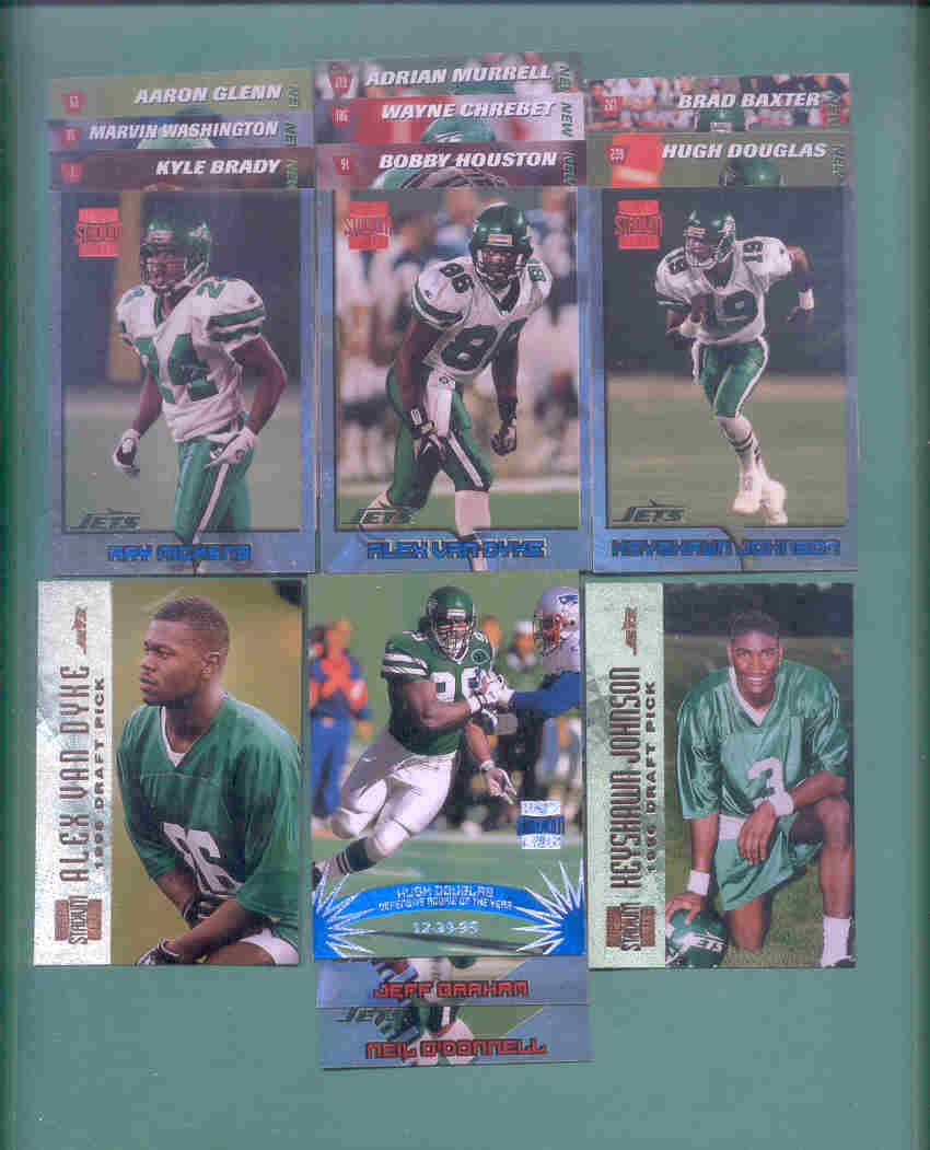 1996 Stadium Club New York Jets Football Team Set