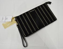 Michael Kors Brooklyn Grommet Large Leather Haircalf Clutch/Wristlet in Black - $129.00