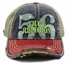 True Religion Men's Premium Cotton Vintage Distressed Trucker Hat Cap TR1690 image 8