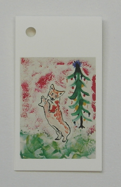 Christmas Holiday Corgi Dog Gift Tags