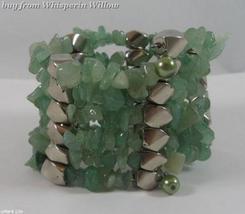 Aventurine Matrix Gemstone Chips Necklace/Bracelet Lariat - $24.95