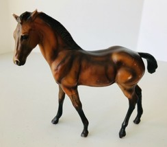 Breyer Classic Dark Dun Quarter Horse Foal #683 Leg Barring Colorful Foa... - $10.74