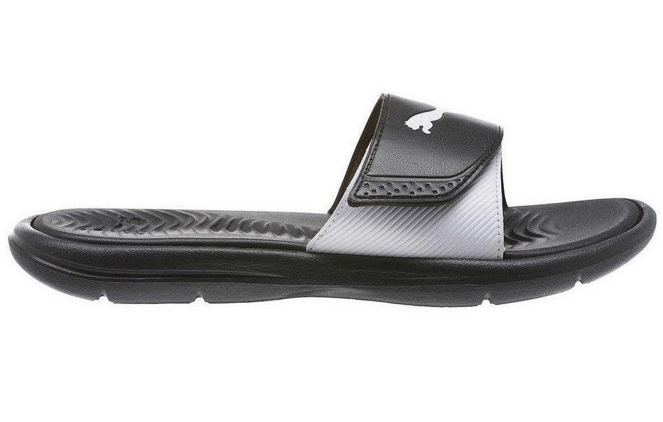 3ee89ca158d8 PUMA Womens  Adjustable Strap Surfcat Slide Sandals - Black White - Size 8