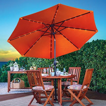 9' OUTDOOR COLOR CHANGING SOLAR LIGHTED PATIO U... - $175.99
