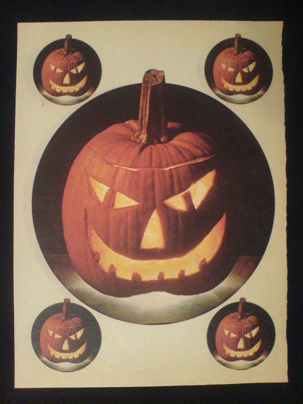 Iron On Transfer 1977 Halloween Pumpkins October 1970s Page Womans Day Magazine