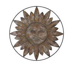 "Deco 79 93707 Sun Face Metal Wall Decor, 30"" - $61.04"