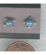 Turquoise Sterling Silver Stud Earrings 1 - $8.15