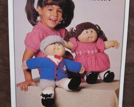 Vintage CABBAGE PATCH DOLL Clothes Clothing Knitting Patterns Dress Up O... - $7.95