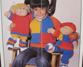 Vintage CABBAGE PATCH DOLL Clothing Clothes Knitting Patterns Jogging Ou... - $7.95