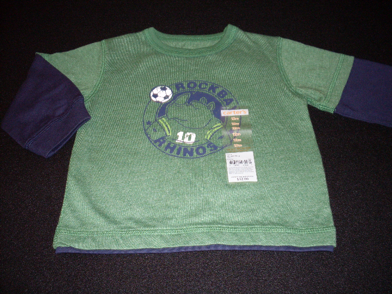 Carter's Boys Long Sleeve T-Shirt Size 12 Months Color Green