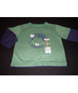 Carter's Boys Long Sleeve T-Shirt Size 12 Months Color Green - $8.00