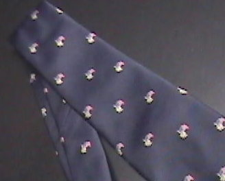 Alynn Neckwear Neck Tie Tiny Repeating American Flags and Yellow Ribbons on Blue