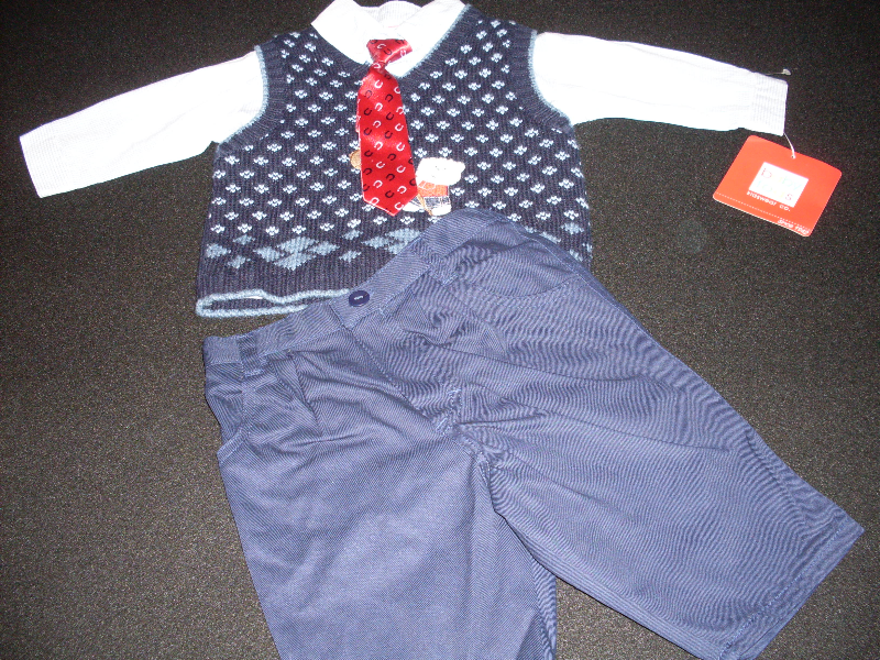 Baby Boy's 3 Piece Dressy Outfit Togs Kidswear Co. Size 3-6 Months