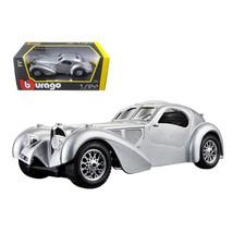 Bugatti Atlantic Silver 1/24 Diecast Car Model by BBurago 22092s - $32.30