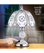 Lavender Butterfly Wreath Touch Lamp with Three Brightness Levels - Spri... - $44.66