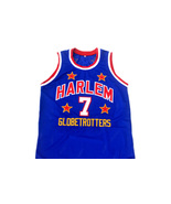 Too Tall #7 Harlem Globetrotters New Men Basketball Jersey Blue Any Size - $44.99+