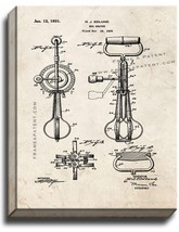 Egg Beater Patent Print Old Look on Canvas - $39.95+