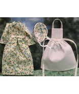 Dollhouse Prairie Dress Bonnet Apron for Miniat... - $20.00