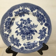 "Johnson Brothers ASIATIC PHEASANT Salad/Dessert Plates Blue 8"" diameter - $14.25"