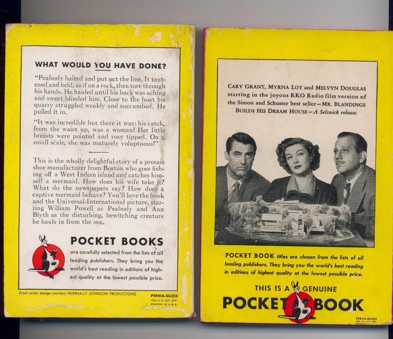Two 1948 movie tie-in paperbacks-1st printings-PocketPair #8