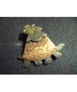 Turtle Pin--Vintage Whimsical Tea Time Turtle - $32.00