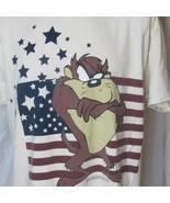 Vintage 1997 Taz Tazmanian Devil Flag T Shirt Size XL Looney Tunes Authe... - $31.99