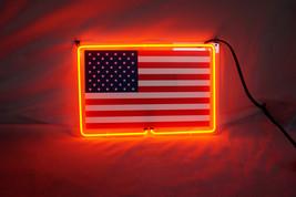 """USA Flag 3D Real Neon Light Sign 13""""x8"""" - $74.00"""