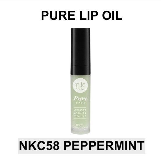 Primary image for NICKA K NEW YORK PURE LIP OIL NKC58 PEPPERMINT HYDRATING LIP WITH ARGAN OIL