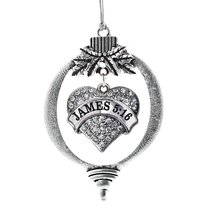 Inspired Silver James 5:16 Pave Heart Holiday Christmas Tree Ornament With Cryst - $14.69