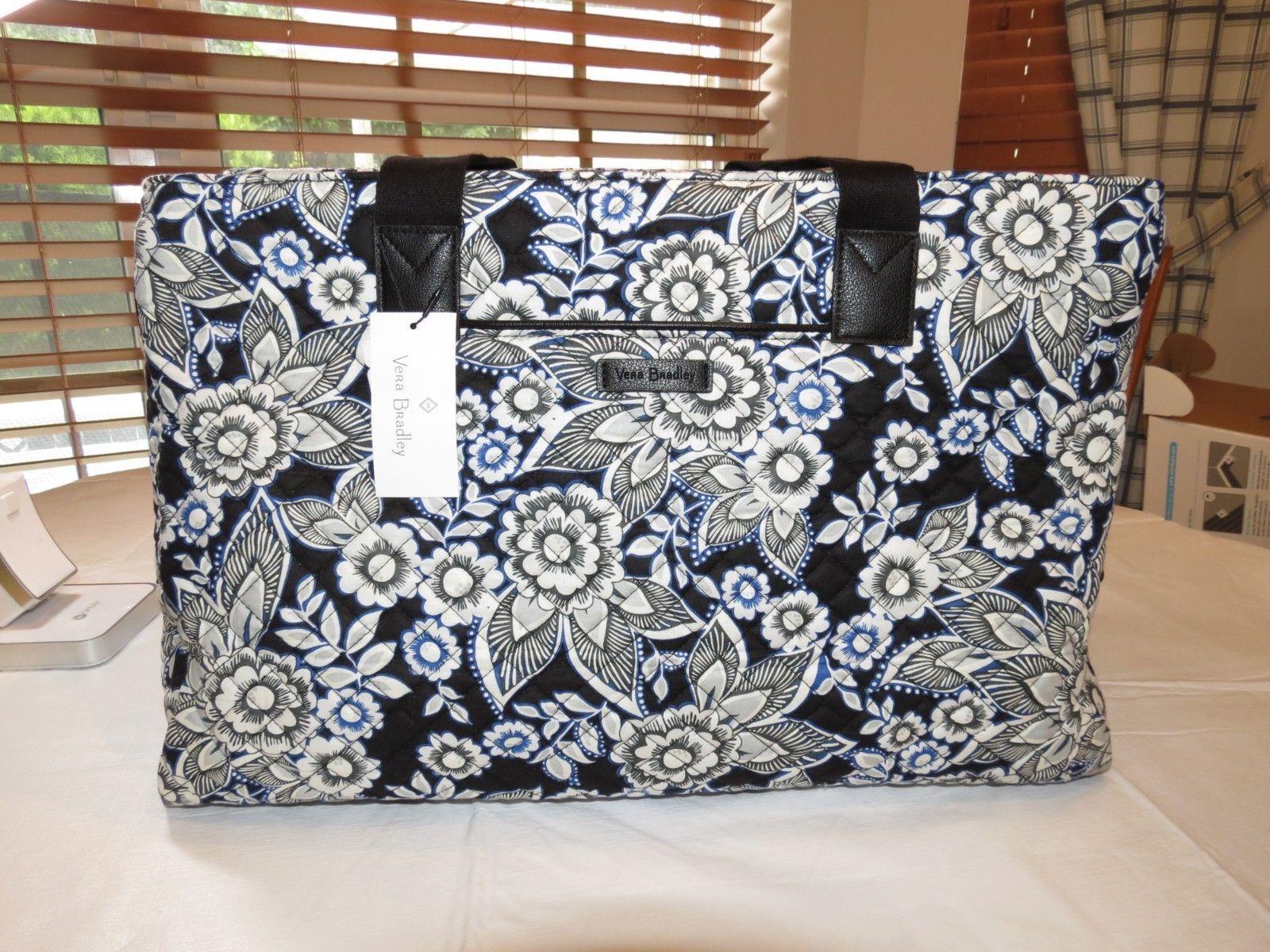57. 57. Previous. Vera Bradley Iconic Triple Compartment Travel Bag  23609-166 Snow Lotus cotton. Vera ... 24e72518ae522
