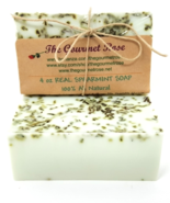 4 oz REAL SPEARMINT SHEA BUTTER SOAP Mint Menthe Leaves Handmade All Nat... - $4.00