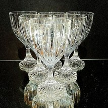 6 (Six) MIKASA PARK LANE Cut Lead Crystal Wine Goblets Glasses DISCONTINUED - $131.99