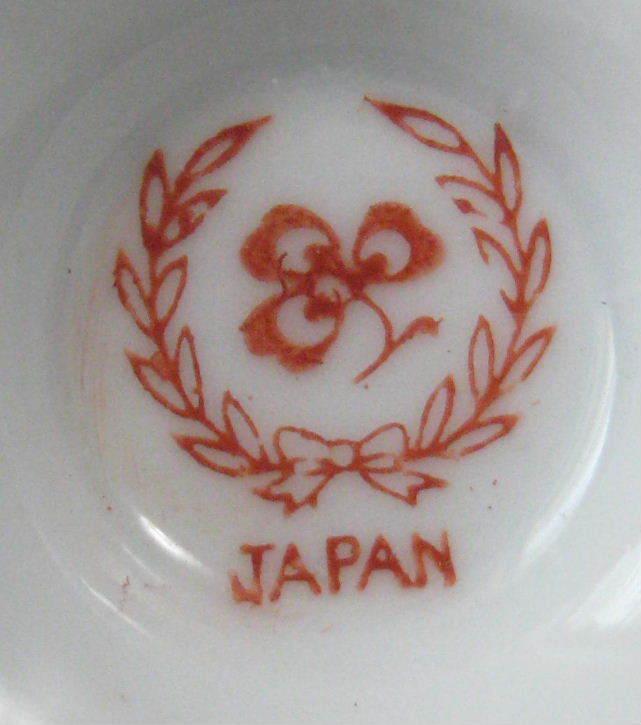 Cup And Saucer Vintage Lilies Demi Japan Fancy Handle Vintage Porcelain Teacup