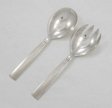 "Blok - Acadia by Georg Jensen Sterling Silver Salad Serving Set 7 3/4""-N... - $485.00"