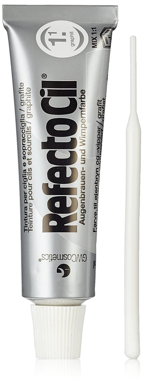 RefectoCil Eyelash & Eyebrow Cream Hair Dye, Graphite  .5 oz