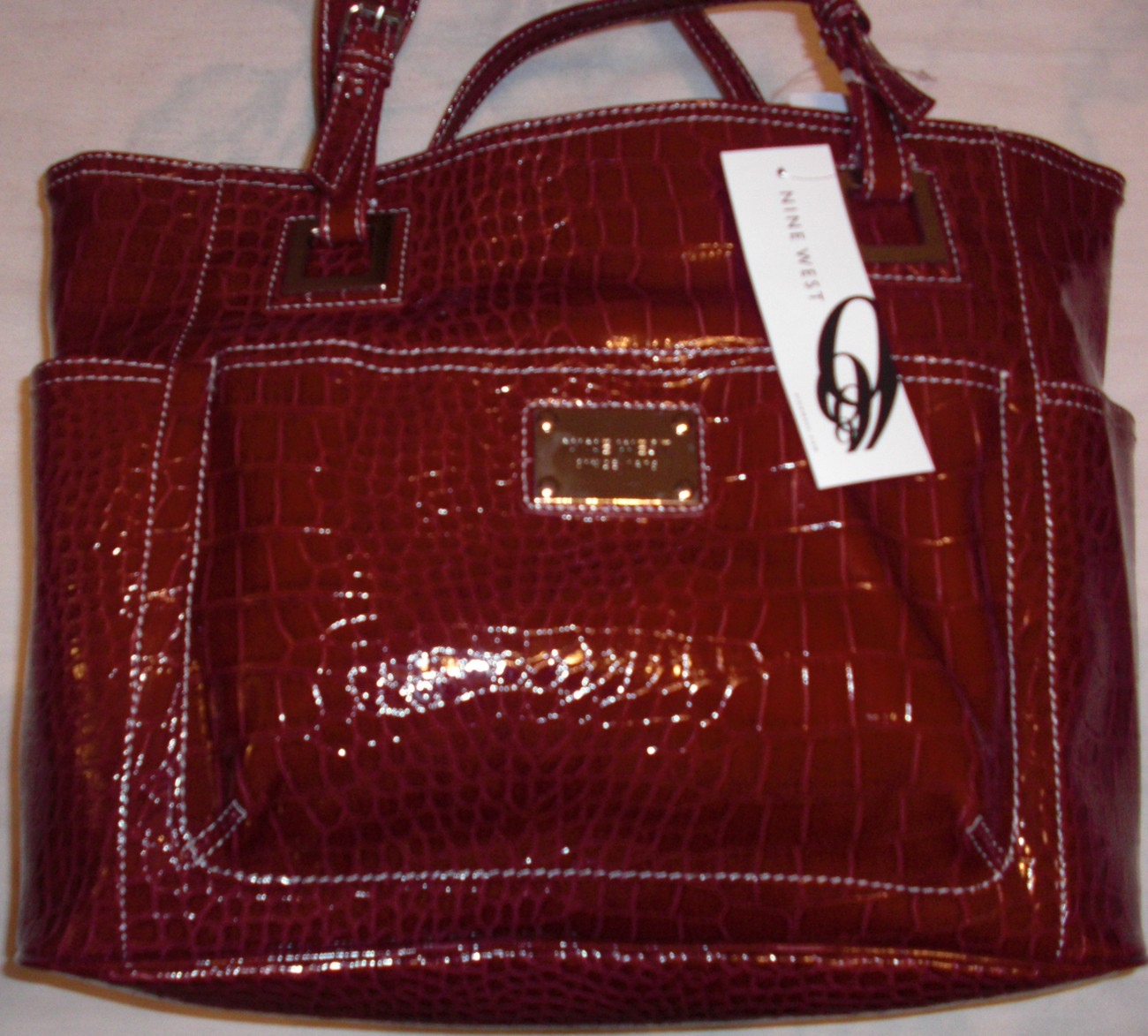 NINE WEST HERITAGE TOTE LARGE NWT