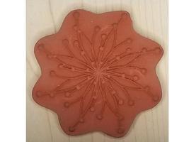 JudiKins Spiral Flower Dots Rubber Stamp #3668G image 2