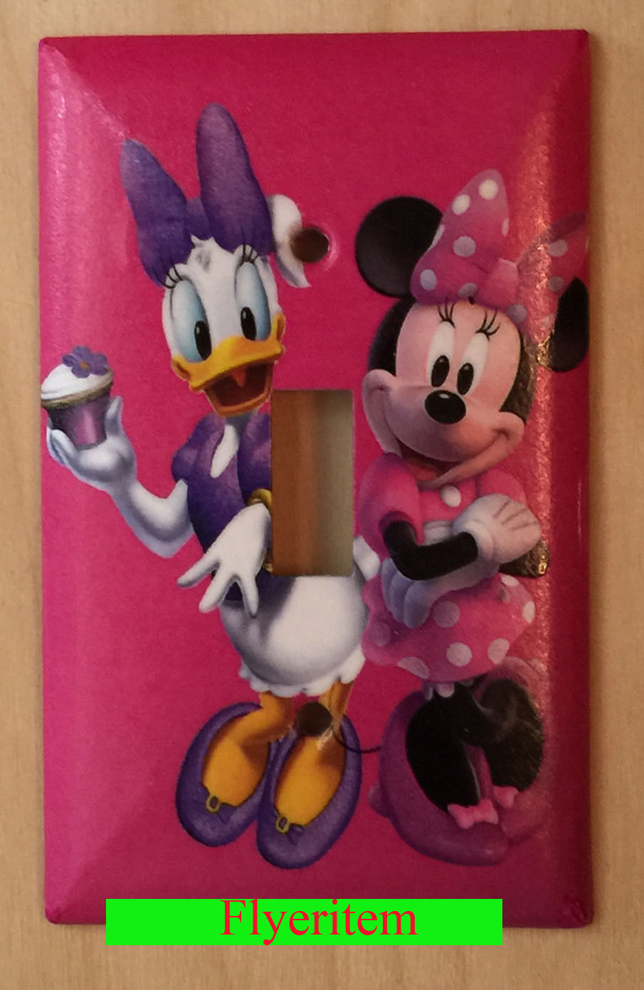 Minnie Mouse Daisy CupCake Light Switch Power Outlet Wall Cover Plate decor
