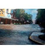 Original art drawing downtown on the bricks mat... - $39.99