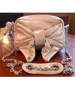 NEW JUICY COUTURE Femme Shimmer Baby Blue Leather Handbag Bag (MAKE AN O... - $156.82