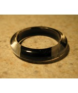 LADIES RING FASHION BLACK WITH WIDE STRIPES SIZE 9 #381B - $5.99