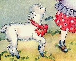 Mary Had A Little Lamb 1944 Mother Goose Margot Austin Print