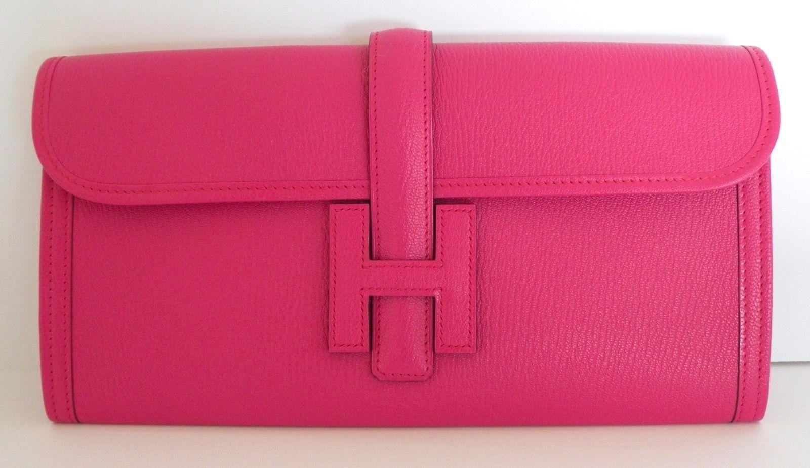 14c96804b Hermes Bag Jige Elan Clutch 29cm Rose and 50 similar items