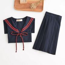 Japanese JK School Girl School Uniform Outfit Pleated Skirt Dress Academ... - $35.99