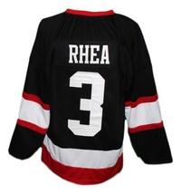 Custom Name # Boston Blackjacks Retro Hockey Jersey New Black Ross Rhea Any Size image 2