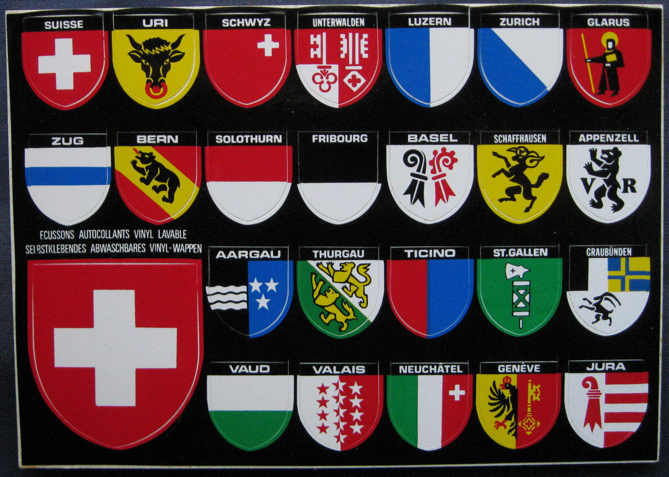Swiss cities stickers 1 1