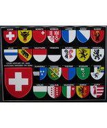 Photoglob, Swiss Postcard, City Arms of Switzerland stickers - $8.00
