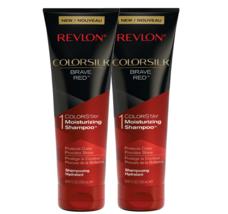 REVLON ColorSilk Brave Red 8.45 Fluid Ounces Colorstay Moisturizing Shampoo Set - $15.98
